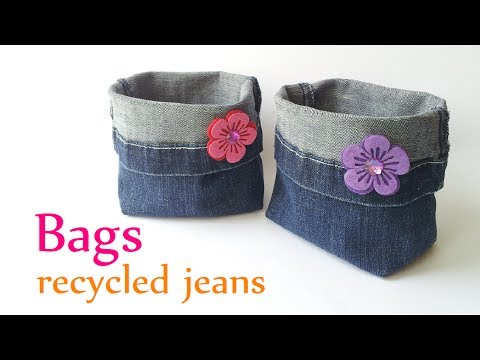 Diy crafts: Baggage recycled jeans (quite Quick) – Innova Crafts