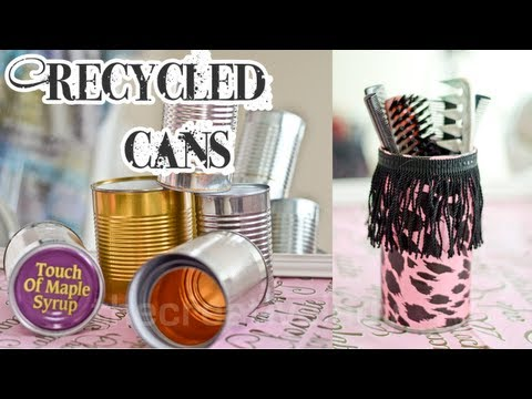 Diy: Recycled Tin Can Craft [Mixed Media] | thecreativelady