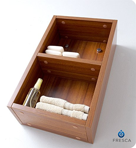 Fresca Small Bathroom Linen Side Cabinet Teak Freecycle