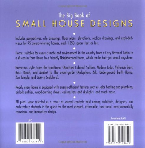 Big book of small house designs 75 award winning plans for Small house design books