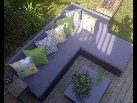 How to establish a pallet sofa for the backyard garden
