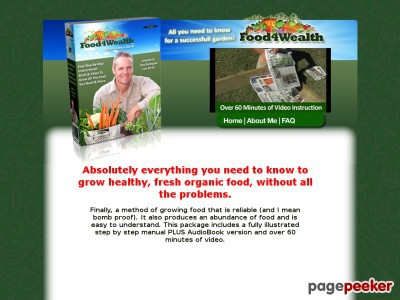 Food4Wealth – The Secret to the Easiest Way to Grow Fresh Organic Vegetables in your Veggie Garden without digging or weeding – low effort way to grow food