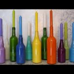Recycled Crafts Ideas For Children | Do it yourself Recycle Glass Bottles into Candlesticks And Vases