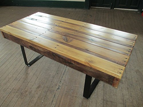 Reclaimed Walnut And Poplar Pallet Wood Coffee Table With