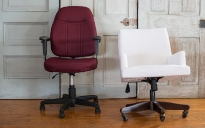 repurposed desk chairs | megan's office makeover