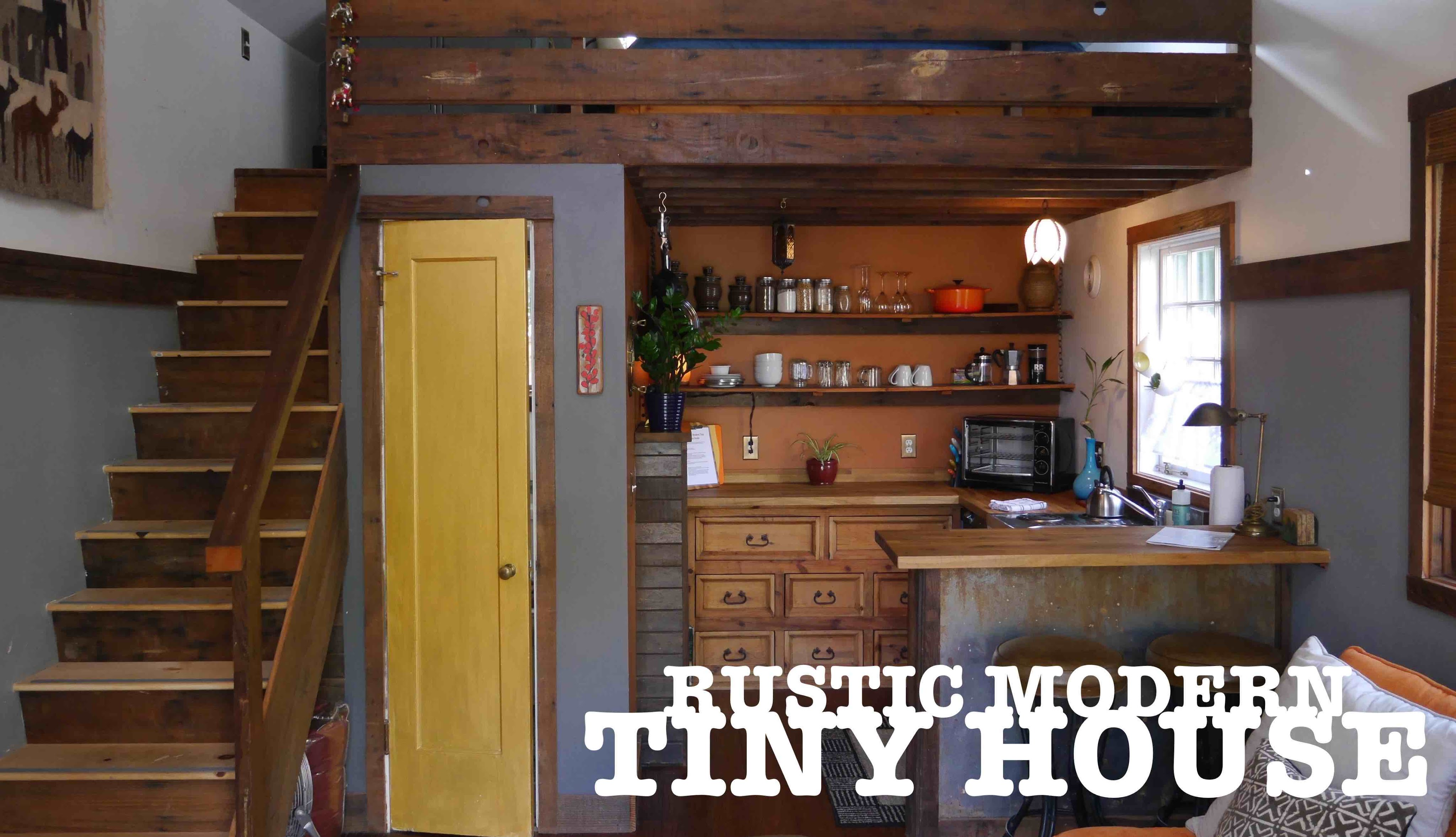 Garage turned into a TINY HOUSE The Rustic Modern in